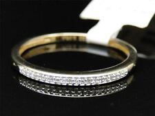 10K Ladies Yellow Gold Pave Round Diamond Engagement Wedding Fashion Band Ring