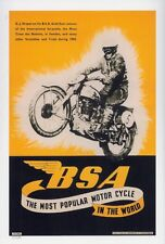 1950/51 BSA Gold Star scrambles MX advert poster REPRO