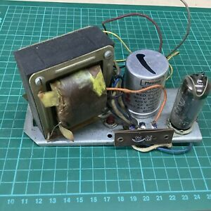 Vintage Valve Transformer Power Supply With Smoothing Capacitor & EZ80 Rectifier
