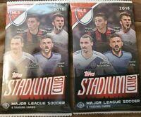 2X Lot - TWO 2018 Stadium Club MLS Major League Soccer 2 SEALED PACKS - HOBBY