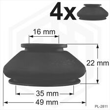 4x Ball Joint Covers 16/35/22 mm Dust Boot Cover Track Rod End Car Van Auto four