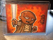 2015 TOPPS STAR WARS JOURNEY TO THE FORCE SKETCH 1/1 BRIAN DEGUIRE MACE WINDU