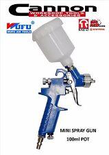 WUFU H.V.L.P Gravity Feed Spray Gun 100ml TOUCH UP MINI AIR BRUSH CANNON TOOLS
