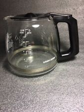 Black & Decker 12 Cup Replacement Glass Coffee Carafe-Black Lid-GUC