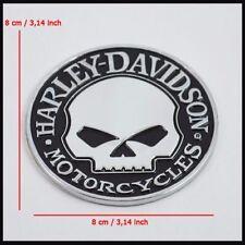 Metal Skull Emblem / Medallion For Harley Davidson Tank / Fender / Body 3D