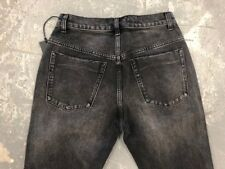 NWT WOMEN'S ONE TEASPOON JEANS CROP FLARE KICKS DBL BASS BLACK SIZE 26 138$