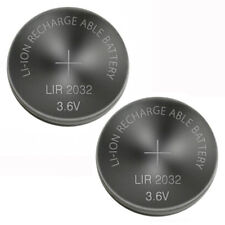 2 PCS New Original LIR2032 2032 3.6V Rechargeable Lithium Coin Cell Battery