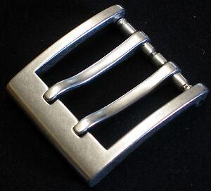 Doppeldornschnalle DOPPELDORN Gürtelschnalle NEU f.4cm breite GÜRTEL Metall TOP#