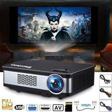 DE 6000Lumen 1080P FHD LED Beamer Heimkino Projektor Multimedia HDMI USB AV VGA