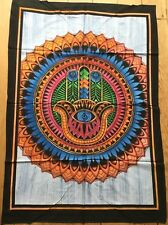 Hand  Of  Fatima  Indian  Batik   Cotton  Wall  Hanging  !!     Brand New !!