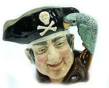 Royal Doulton Toby Jug Long John Silver Stien Mug 1951 Parrot Handle Cpt Flint