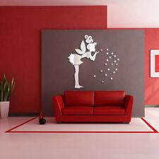 Cute DIY 3D Acrylic Mirror Wall Stickers Fairy Wall Stickers Home Garden Decor