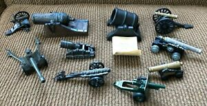 Lot of 9 Vintage Toy Cannons Mortars & More
