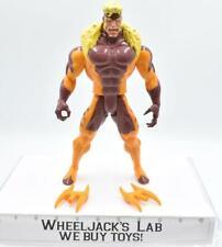 """Sabretooth 100% Complete 10"""" Deluxe X-Men 1993 Toybiz Action Figure"""