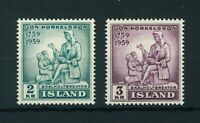 Iceland 1959 Death Centenary of Jon Thorkelsson full of stamps. MNH. Sg 364-365.