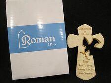 "Confirmation resin wall cross-dove (Holy Spirit) w/olive branch-7""H x 4.5""W-NIB"