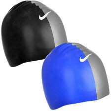 2 Pack Nike Performance Silicone Moulded Swimming Swim Hat Cap