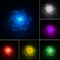 Lotus Shape LED Night Light Kids Room Bedroom Bedside Decorative Lamp Colorful
