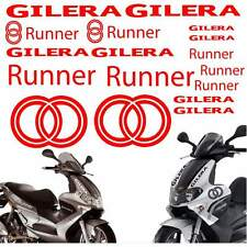 SET ADESIVI CARENA CARENE ROSSO GILERA RUNNER STICKERS LOGO GRAFICA