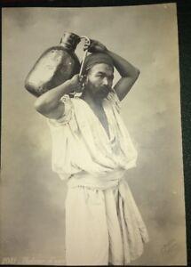 PORTEUR D'EAU (ALGÉRIE) . Photo éditeur, 1905.