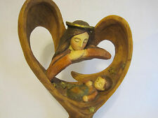 Roman Inc Guardian Angel Baby Mary Jesus Carved Scupture Tree Trunk Large