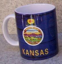Coffee Mug Explore America Kansas State Flag NEW 11 ounce cup with gift box