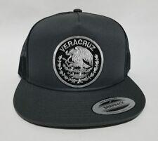 Veracruz Hat Mesh Trucker Dark Grey Snap Back Adjustab New. Logo Grey