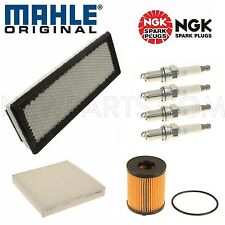 For Fiat 500 Turbo Tune Up Air Cabin Oil Mahle Filter NGK Spark Plugs Set Kit