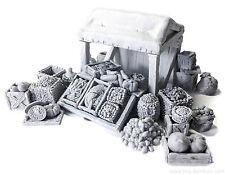Merchant stall with food - D&D, Frostgrave, dungeon terrain, Warhammer
