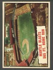 1961 Topps #406 Mantle Blasts 565 Ft. Home Run
