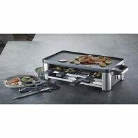 WMF Lono Parrilla Raclette y grill 1500W Antiadherentes, 8 Espatulas 8 Sartenes