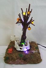 Lemax Spooky Town Halloween Ring Around The Tree ANIMATED LIGHT MINT (Y490#3)