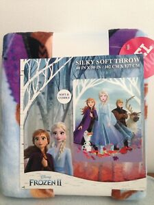 NEW FROZEN II Silky Soft THROW BLANKET Elsa Anna Olaf Sven