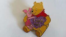 Winnie Piglet Message Series I love you Disney Paris Dlrp Dlp 2006 glitter Pin