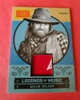 WILLIE NELSON COUNTRY SINGER WORN RELIC MEMORABILIA CARD 2014 GOLDEN AGE MUSIC