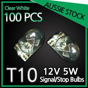 T10 12V 5W 100PCS Wedge Tail Light Bulbs CLEAR White BULK PACK Car Mechanic