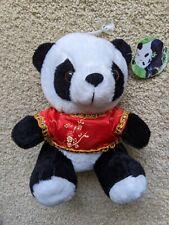 """NEW Panda Plush With Red Chinese Shirt 7"""""""