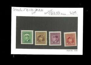 Canada SC# 278-81 MNH. VF. Cat.63.50