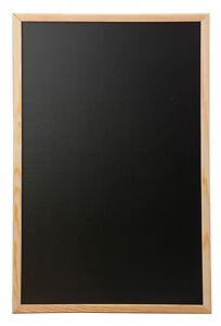 Chalkboard Blackboard Wooden Frame Office Notice Menu Sign Large Board 60x80cm