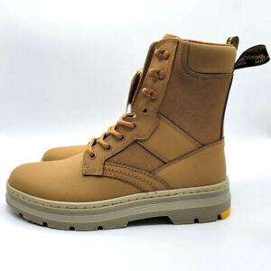New Dr. Martens Mens US 9 Oak Iowa Tough Boot Canvas Leather Casual Lifestyle