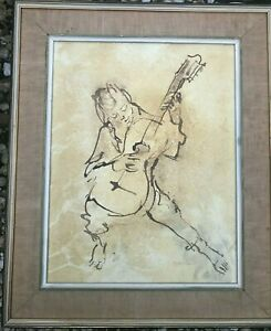 Rare original ink and wash drawing by Louis Kahan(1905-2002)