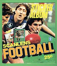 #DD7.  SET OF  1984 SCANLENS VFL  UNMOUNTED  STICKERS & ALBUM