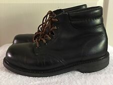 Mens BATES Vibram Soles Black Leather Ankle Boots Work Shoes SIZE US 8