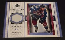 RAY BOURQUE 2001-02 UD Collector's Club EXCLUSIVE Worn JERSEY Avalanche BRUINS