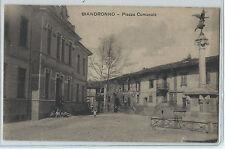CARTOLINA 1929 BIANDRONNO PIAZZA COMUNALE 896/A