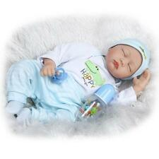 ON SALE 22'' Handmade Baby Girl Doll Silicone Vinyl Reborn Newborn Dolls+Clothes
