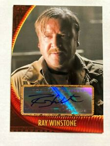 RAY WINSTONE as MAC 2008 TOPPS INDIANA JONES KOTCS CRYSTAL SKULL Autograph AUTO