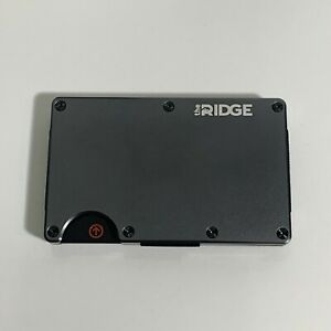 The Ridge Slim Minimalist Front Pocket RFID Blocking Metal Wallets for Men Strap