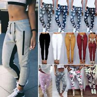 Women Casual Jogger Dance Sports Gym Pants Tracksuit Bottom Trousers Sweatpants