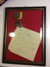 Lot souvenir Guerre WW1 Verdun Médaille militaire et prière de Joffre manuscrite